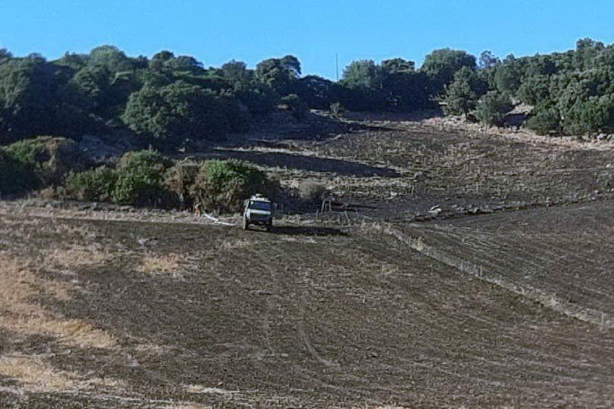 Ruinas, ancora bonifiche per l'incendio che ha distrutto 50 ettari