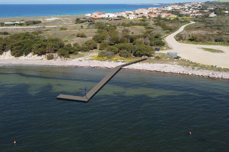 Il progetto del molo (foto del Comune)