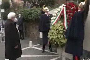 Mattarella in via Fani nell'anniversario del rapimento Moro